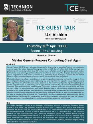 TCE Guest Lecture: Making General-Purpose Computing Great Again